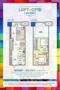 乌鲁木齐经开万达广场1室1厅1卫66平方米户型图