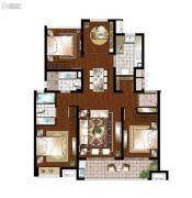 万科遇见山3室2厅2卫126平方米户型图