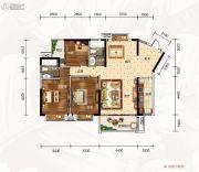 龙湾公馆3室2厅2卫132平方米户型图