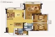 蓝润光华春天3室2厅2卫95平方米户型图