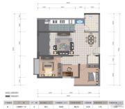 医大广场3室2厅1卫88平方米户型图