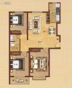 凤凰城3室2厅1卫108平方米户型图