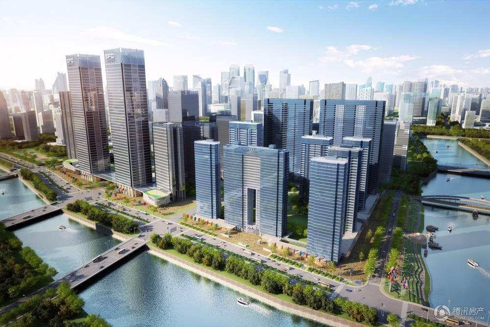 欧美金融城(EFC)整体鸟瞰图