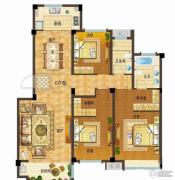 依云小镇3室2厅2卫141平方米户型图