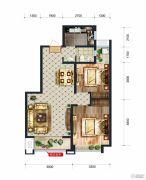 润德天悦城2室2厅1卫0平方米户型图