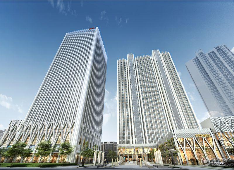 效果图 广场/华庭国际广场 住宅均价12500元/平