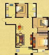 国华御翠园2室2厅1卫121--122平方米户型图