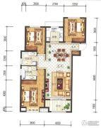 兰石豪布斯卡3室2厅2卫125平方米户型图