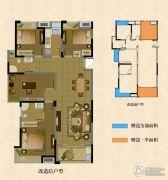南湖学府3室2厅2卫112--129平方米户型图