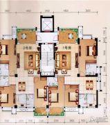 柏嘉名庭127--128平方米户型图