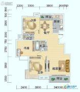 海岸国际3室2厅1卫135平方米户型图