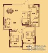 宏伟西雅图2室2厅1卫93平方米户型图