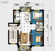 广达公馆2室2厅1卫75--83平方米户型图