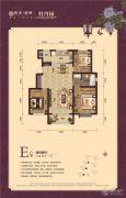 银丰唐郡・牡丹园3室2厅1卫117平方米户型图