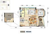 米兰天空3室2厅1卫0平方米户型图