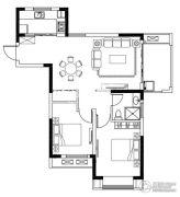 亚东观樾2室2厅1卫92平方米户型图