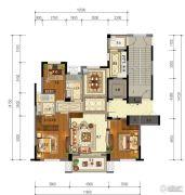东泰・春江名园3室2厅2卫138平方米户型图