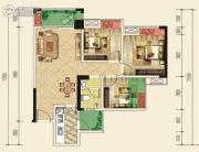 仁美大源印象3室2厅1卫87平方米户型图