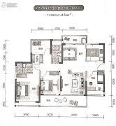 东旭千江月2室2厅2卫118--126平方米户型图