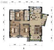 嘉裕第六洲3室2厅2卫123平方米户型图