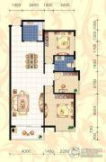 城市绿岛3室2厅1卫118平方米户型图