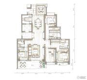 西关海4室3厅3卫248平方米户型图