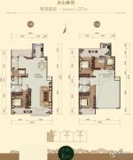 龙山广场4室2厅3卫237平方米户型图