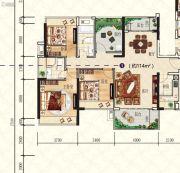 星海湾华庭4室2厅2卫114平方米户型图