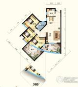 怡景江南3室2厅1卫107平方米户型图