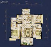 恒泰珑湖3室2厅2卫147平方米户型图