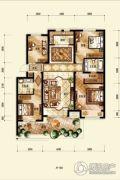 中海国际社区4室2厅2卫128平方米户型图