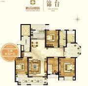 新合国际锦合园4室2厅2卫192平方米户型图