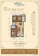 海西金色3室2厅2卫122平方米户型图