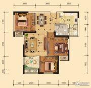 东湖雅居3室2厅1卫84平方米户型图