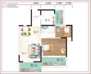 诚易佳和时代2室2厅1卫76平方米户型图