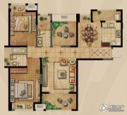 融侨观邸2室2厅1卫129平方米户型图