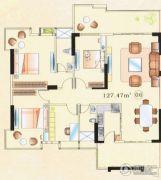 大唐盛世3室2厅2卫100--130平方米户型图