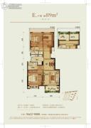 龙湖武林九里3室2厅2卫0平方米户型图