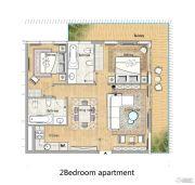 迪拜春天 DUBAI SPRING2室1厅2卫0平方米户型图