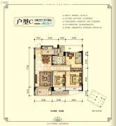 南城壹号3室2厅1卫88平方米户型图