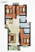 永邦天汇3室2厅2卫129平方米户型图