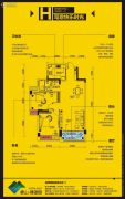 象山博望园2室2厅1卫87平方米户型图