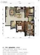 东湖方舟3室2厅2卫137平方米户型图