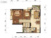 中海阅江阁2室2厅1卫70平方米户型图