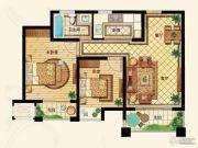 金洋奥澜半岛2室2厅1卫88平方米户型图