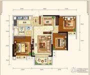 城中半岛2室2厅1卫89平方米户型图