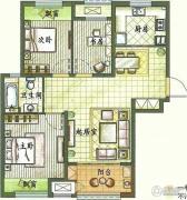新城香溢紫郡3室2厅1卫96平方米户型图