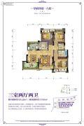 北大资源博雅3室2厅2卫101平方米户型图