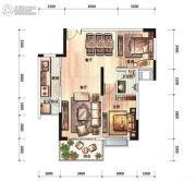 碧桂园公园壹号2室2厅1卫89平方米户型图