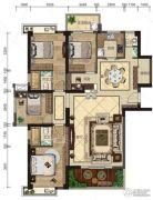 悦泰春天4室2厅3卫154平方米户型图